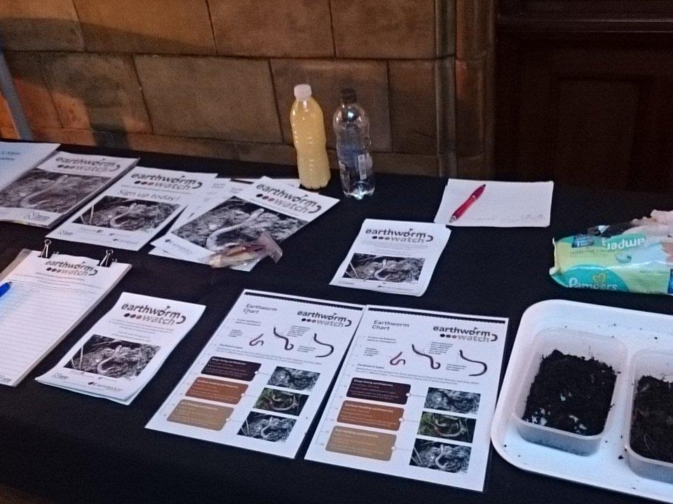 Display of Earthworm Watch materials