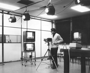 Colin the first TV Studio in the 1960's