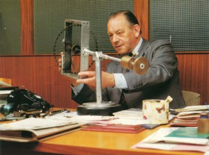 Eric Laithwaite in his office in 1980
