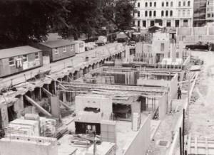 Linstead Hall foundations 1966