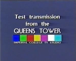 Announcing the live TV transmission from the tower