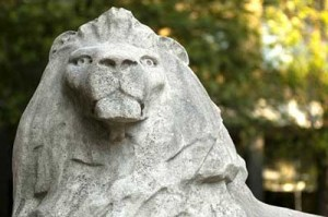 Queen's Tower lion