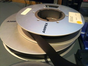 The Ampex one inch open spool 'A' format tape